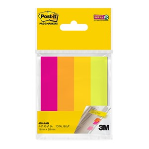 3M Post-It Super Sticky Page Markers Assorted Neon