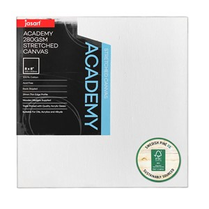 """Jasart Academy Stretched Canvas 3/4"""" Thin Edge 8x8"""""""