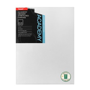 """Jasart Academy Stretched Canvas 1 1/2"""" Thick Edge 12x16"""""""