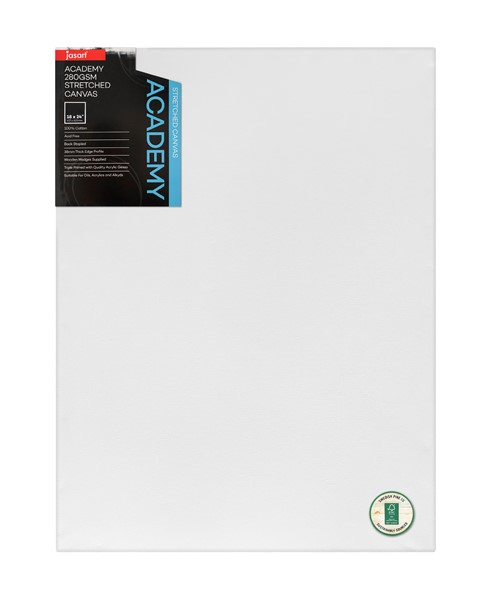 """Jasart Academy Stretched Canvas 1 1/2"""" Thick Edge 18x24"""" - pr_1702335"""