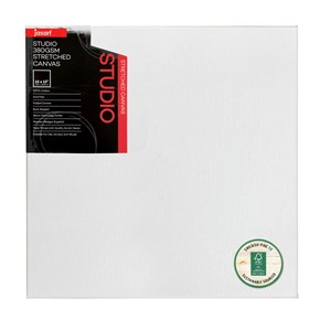"""Jasart Studio Stretched Canvas 1 1/2"""" Thick Edge 12x12"""""""