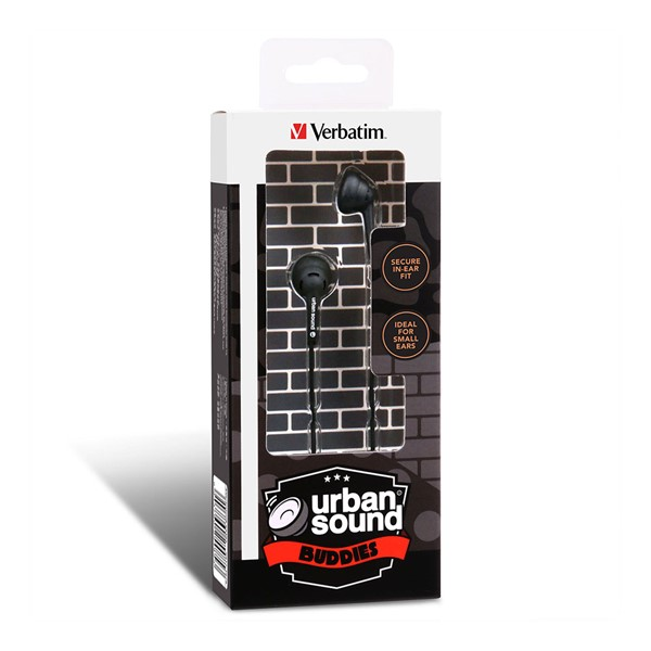 Verbatim Urban Sound Earphone Buddies - Black  - pr_1711819