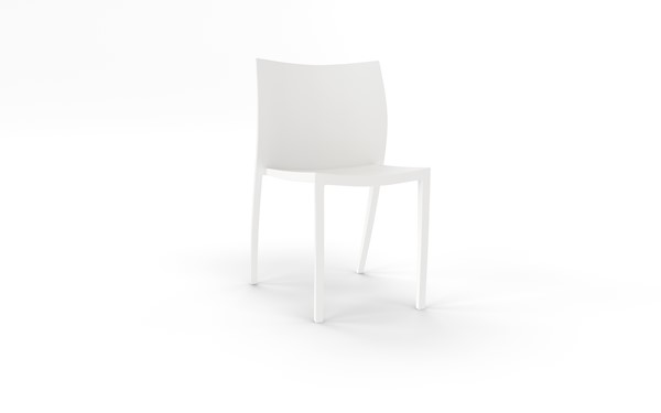 Knights Poly Cafe Stacker Chair White - pr_1702479