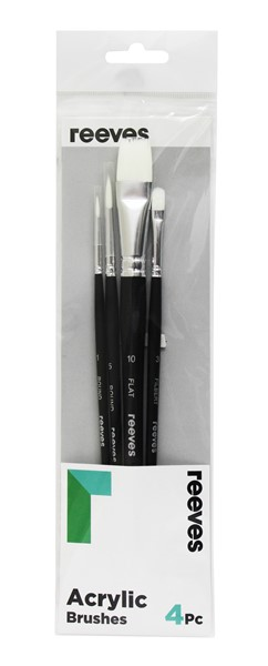 Reeves Acrylic Brush White Synthetic 4 Pack - pr_1702255