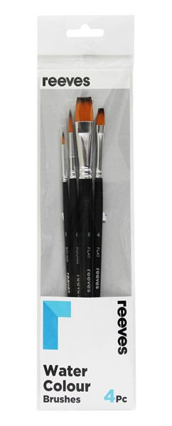 Reeves Watercolour Brush Golden Synthetic 4 Pack - pr_1702786