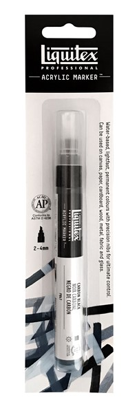 Liquitex Acrylic Marker 2-4mm Carbon Black - pr_1714536