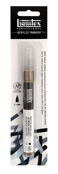 Liquitex Acrylic Marker 2-4mm Iridescent Antique Gold - pr_1702773