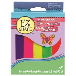 EZ Shape Modeling Clay Set 5 Bright Colour