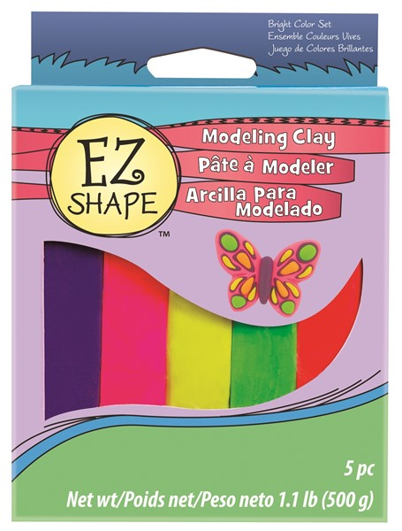 EZ Shape Modeling Clay Set 5 Bright Colour -
