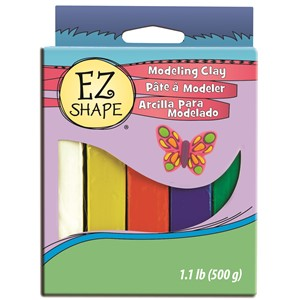 EZ Shape Modeling Clay Set 5 Primary Colour