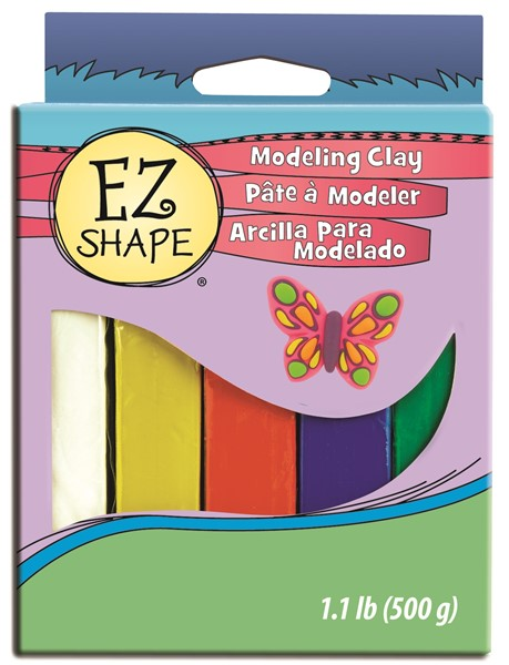 EZ Shape Modeling Clay Set 5 Primary Colour - pr_1702778