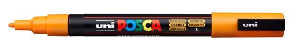 Uni Posca Marker 0.9-1.3mm Fine Bright Yellow -