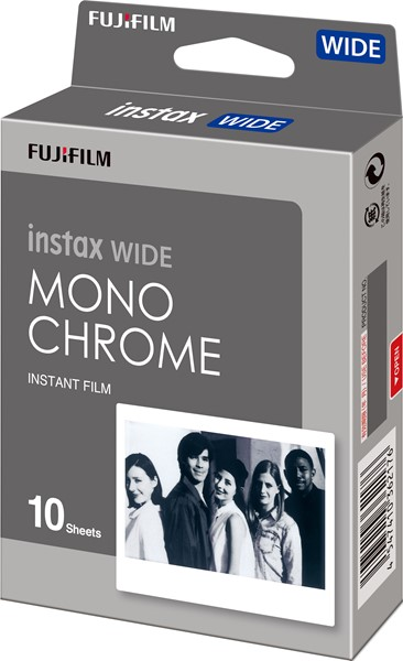 Fujifilm Instax Wide Film Monochrome 10 Pack -