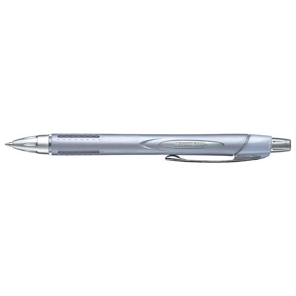 Uni Jetstream 0.7mm Retractable Silver Barrel SXN250-07 Black  -