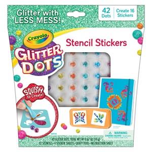 Crayola Glitter Dots - Stencil Stickers