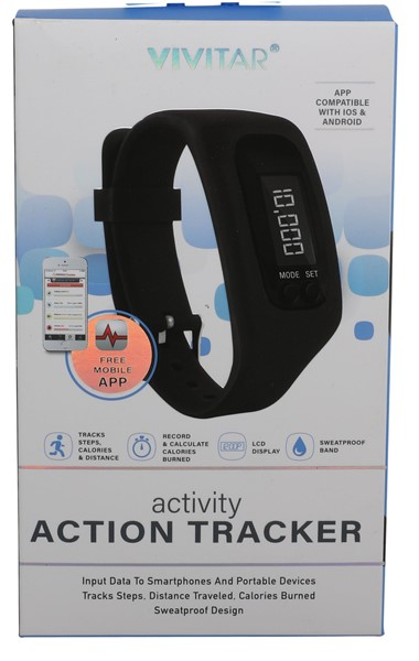 Vivitar Bluetooth Activity Tracker - Black - pr_1702038