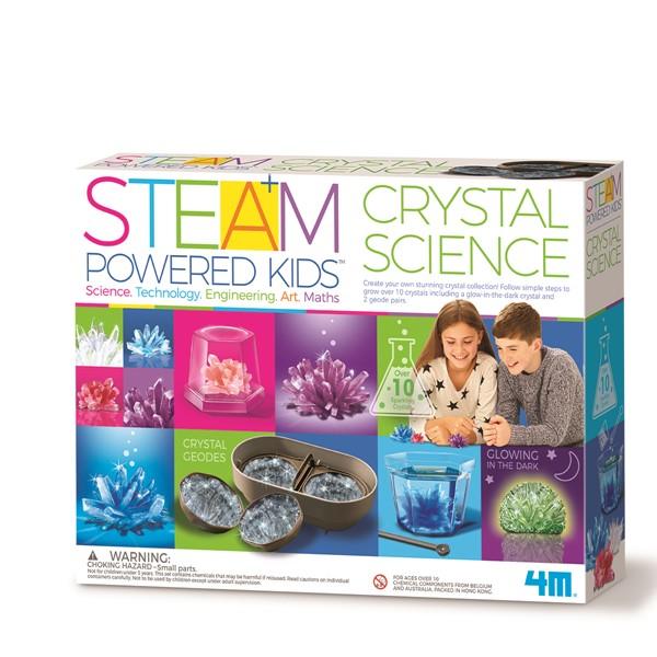 4M Steam Powered Kids Crystal Science -