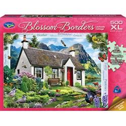 Blossom Borders 500 XL Piece Jigsaw Puzzle Lochside Cottage