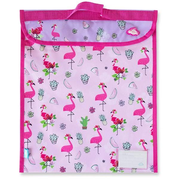 Spencil Fancy Flamingo Homework Bag 370 X 450mm -