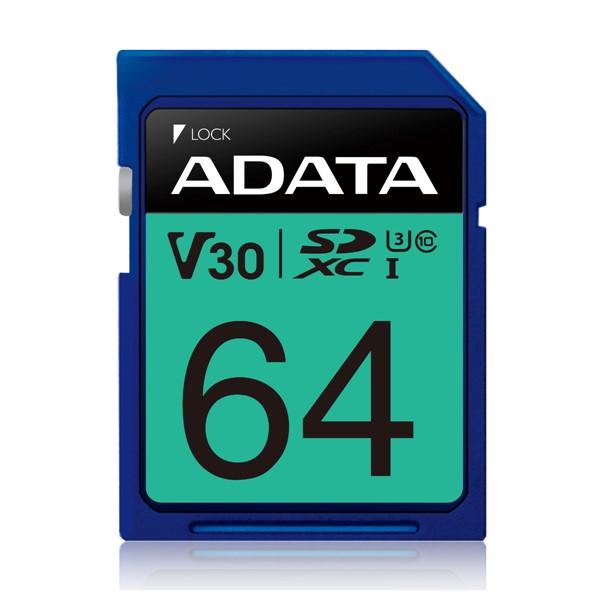 ADATA Premier Pro UHS-I U3 V30 SDXC Card 64GB  -