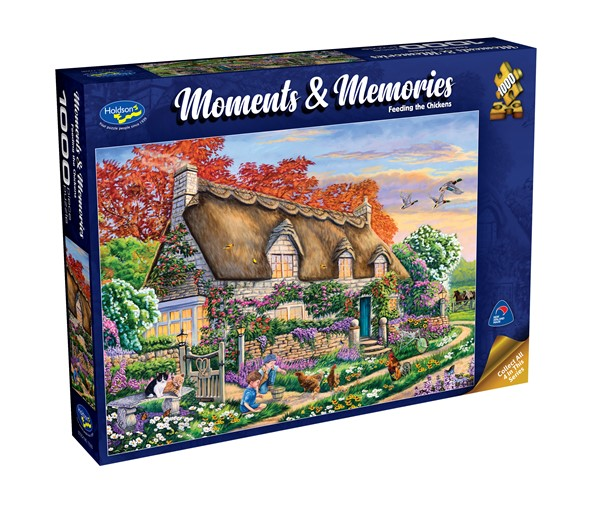 Moments & Memories S2 1000 Piece Jigsaw Puzzle Feeding the Chickens - pr_1747068