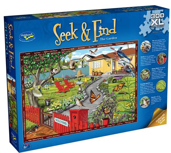 Seek & Find  300 XL Piece Jigsaw Puzzle- The Garden - pr_1772977