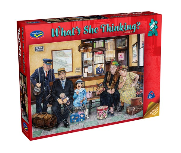 What's She Thinking? 1000 Piece Jigsaw Puzzle The Critics - pr_1747089