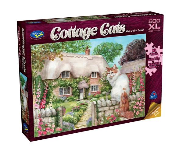 Cottage Cats 500 XL Piece Jigsaw Puzzle Master of All He Surveys! - pr_1747091