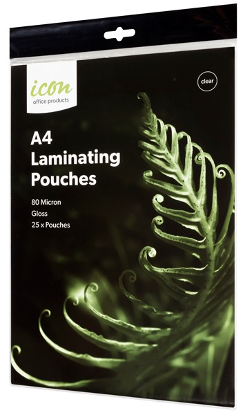 Icon Laminating Pouches A4 80 Micron Pack of 25  - pr_1745938