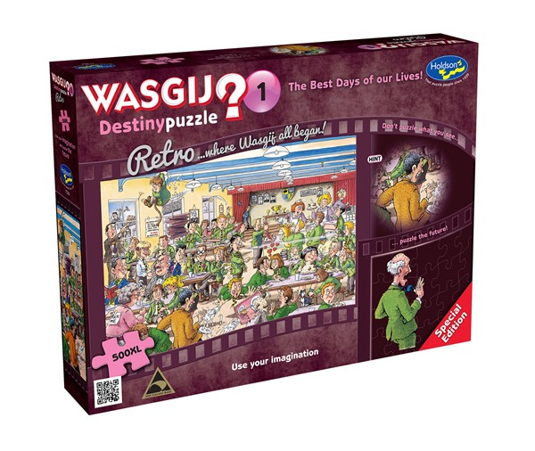 Retro Wasgij Destiny #1 500XL Piece Jigsaw Puzzle The Best Days Of Our Lives! -