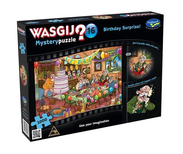 Wasgij Mystery #16 1000  Piece Jigsaw Puzzle Birthday Surprise! - pr_1772946