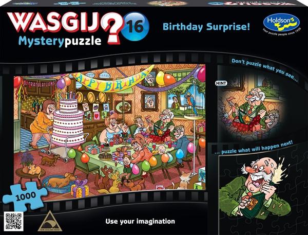 Wasgij Mystery #16 1000  Piece Jigsaw Puzzle Birthday Surprise! - pr_1772945
