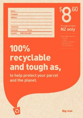 NZ Post - Size 2 Recycled Padded Postage Included Bag - pr_1776927