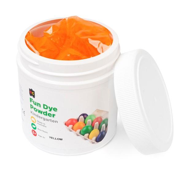 EC Craft Fun Dye Powder Yellow 500gms -