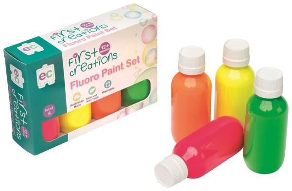 EC First Creations Fluoro Paint Set 4 -