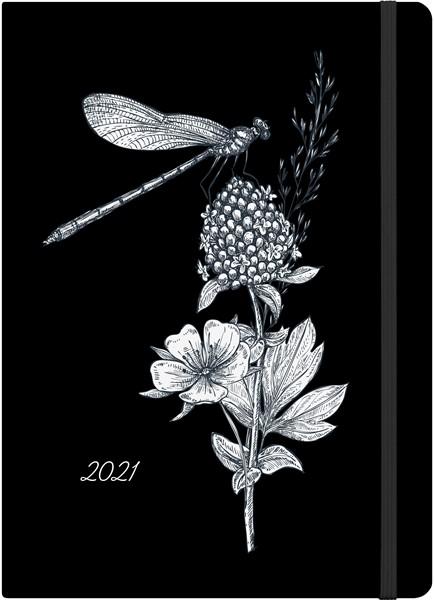 Collins A51 Black & White Dragon Fly 2021 Diary - pr_1776169