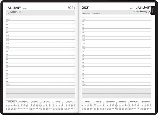 Collins A51 Black & White Dragon Fly 2021 Diary - pr_1776173