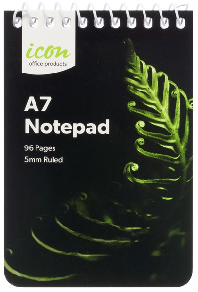 Icon Spiral Notepad A7 Soft Cover 96 pg -
