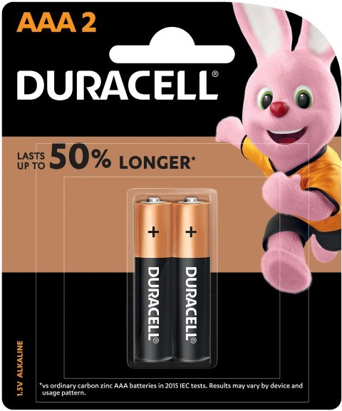 Duracell Coppertop AAA Battery Pack of 2 -