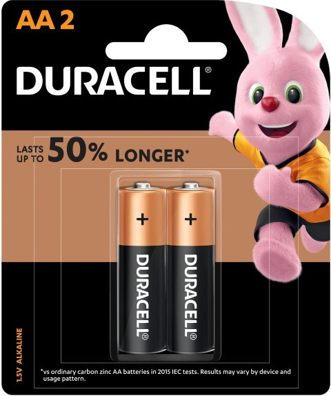 Duracell Coppertop AA Battery Pack of 2 -