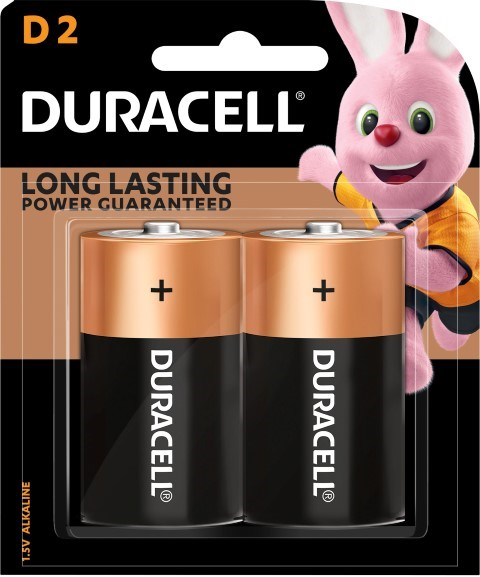 Duracell Coppertop D Battery Pack of 2 -