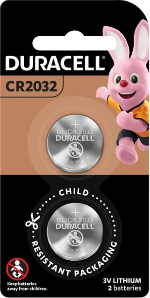 Duracell Lithium Coin 2032 Battery Pack of 2 -
