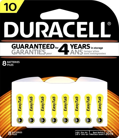 Duracell Hearing Aid 10 Battery Pack of 8 - pr_1850454