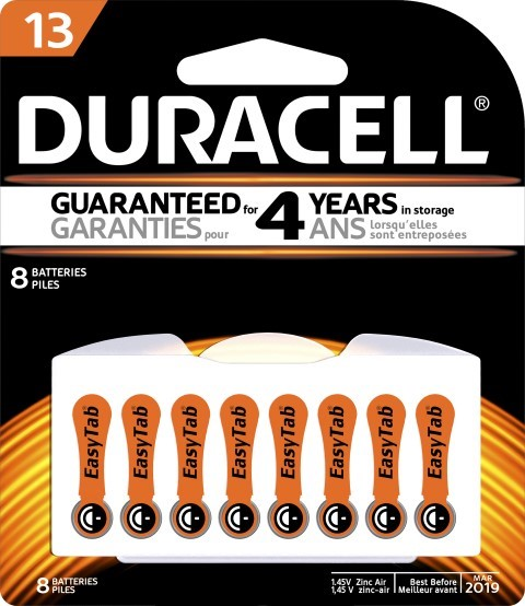 Duracell Hearing Aid 13 Battery Pack of 8 - pr_1850446