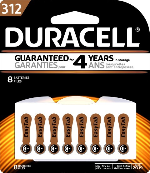 Duracell Hearing Aid 312 Battery Pack of 8 - pr_1850455