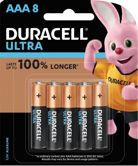 Duracell Ultra Alkaline AAA Battery Pack of 8 -