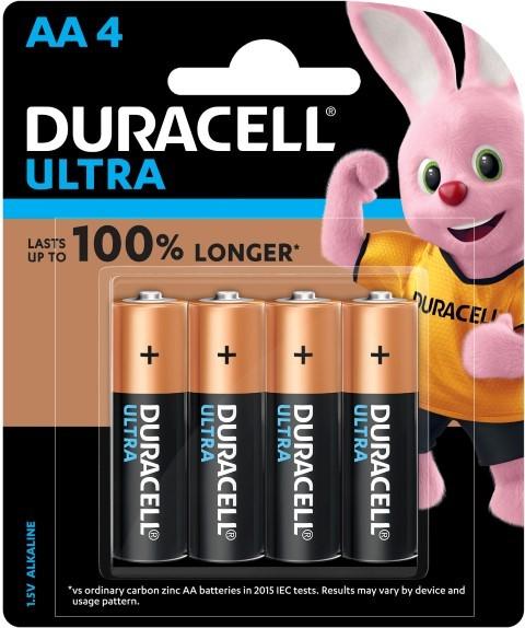 Duracell Ultra Alkaline AA Battery Pack of 4 -