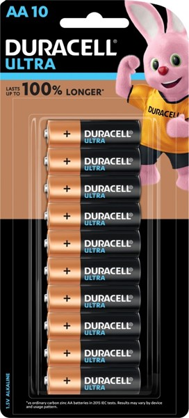 Duracell Ultra Alkaline AA Battery Pack of 10 - pr_1850464