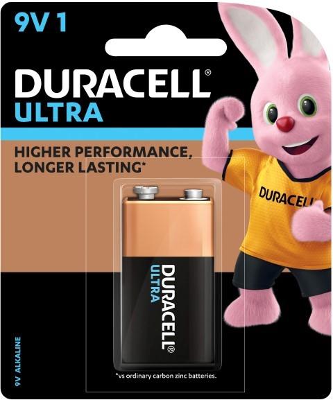 Duracell Ultra Alkaline 9V Battery -