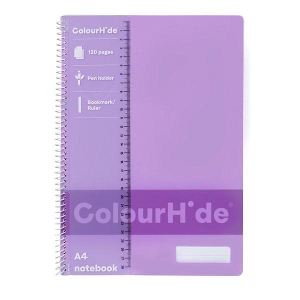 Colourhide Notebook  A4 120 Page Purple - pr_1776895